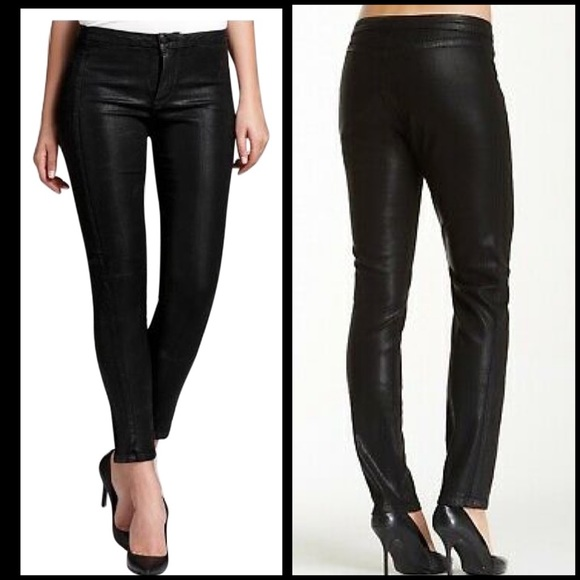 NYDJ Denim - NYDJ Black Antionia Faux Leather Jeans